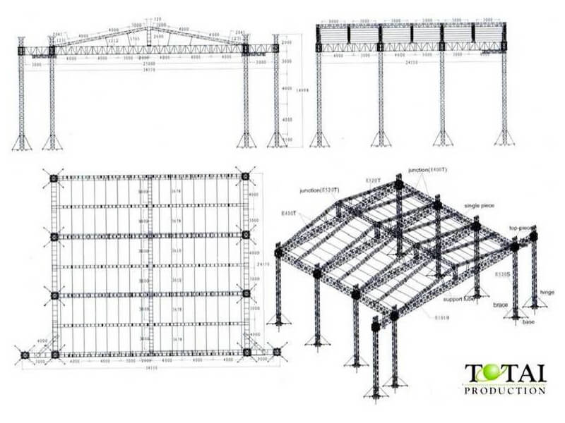roof u0026 truss systems total productions 25m25m15m